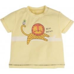- 10354 Aslan Desenli Erkek Bebek Tişört 1