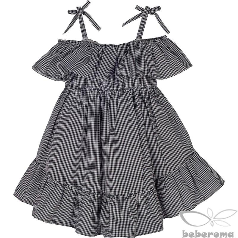 - 13367 Pötikareli Kız Çocuk Elbise 1