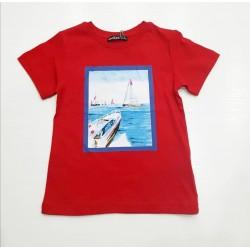 - 0647 Erkek Çocuk Kırmızı Tişört 1