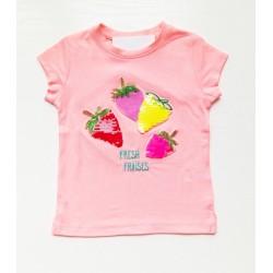 - Kız Çocuk 4 Çilek Tişört Pembe 3001-009 1