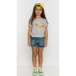 Kız Çocuk Kot Şort Tişört...