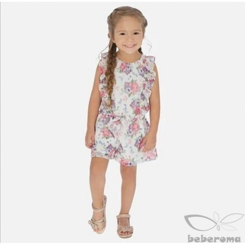 - Kız Çocuk Mayoral Çiçekli Tulum-3814 1