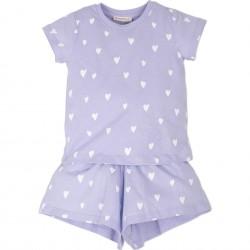 Kız Çocuk Kalpli Pijama...