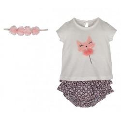 Kız Bebek Şort Takım -13116