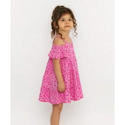 - Kız Çocuk Kirazlı Elbise 3002-033 1