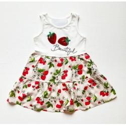 - Kız Çocuk Çilekli Elbise 3002-035 1