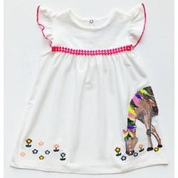 - Kız Bebek Beyaz Penye Elbise-3002-041 1