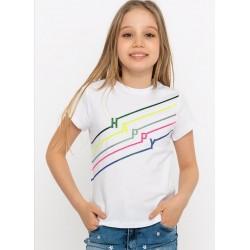- Kız Çocuk Beyaz Tişört T854 1