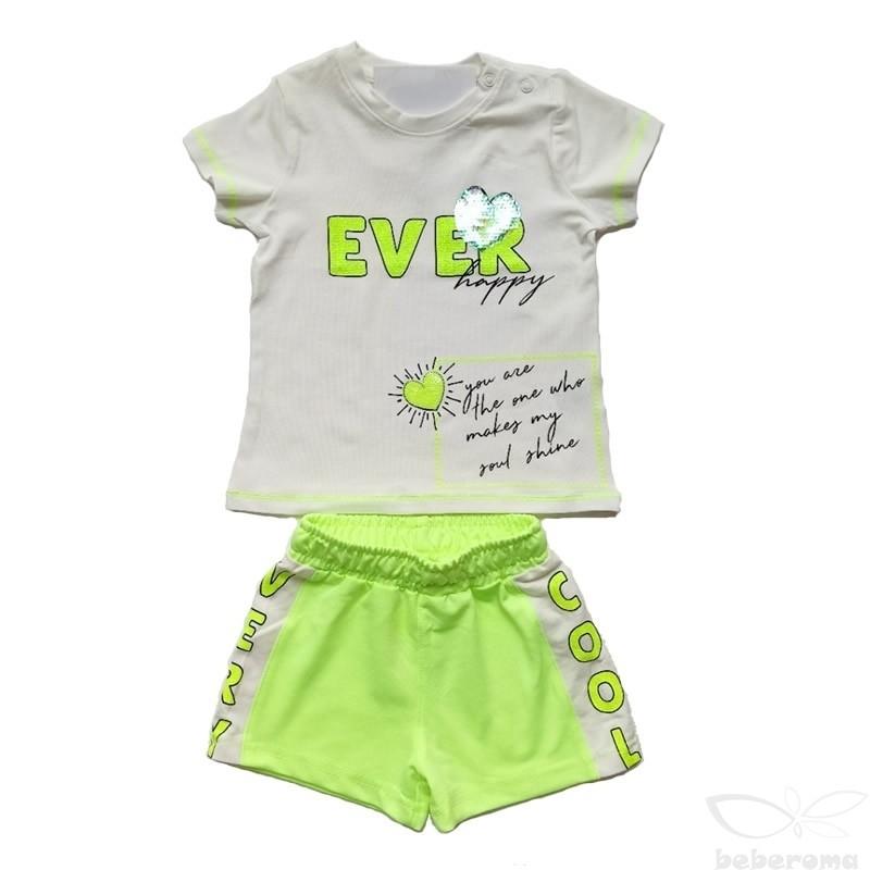 - Kız Bebek Neon Şort Takım 3000-081 1