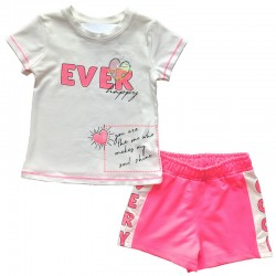 - Kız Bebek Fuşya Şort Takım 3000-081 1