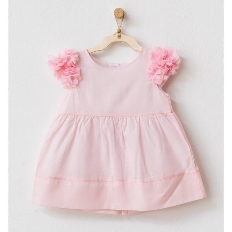 - Kız Bebek Pembe Elbise AC21752 1