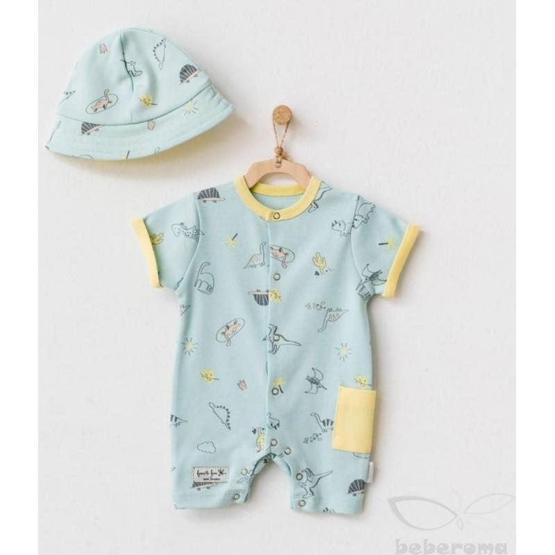 - Erkek Bebek Şapkalı Tulum AC 21609 1