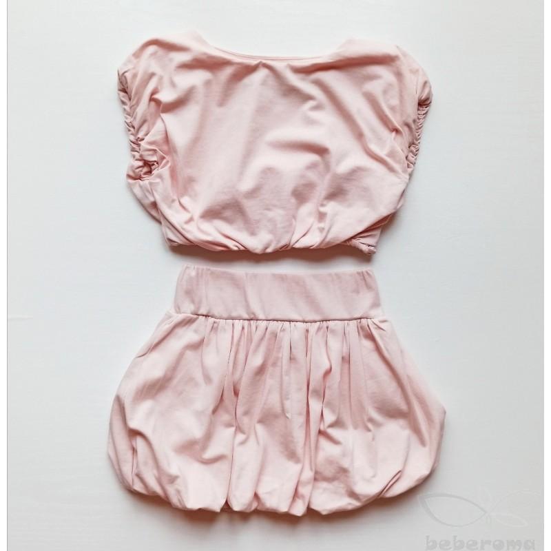 - Kız Çocuk Pembe Balon Etek Takım 2079 1