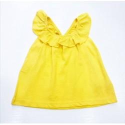 - Kız Çocuk Askılı Sarı Tişört -0656 1