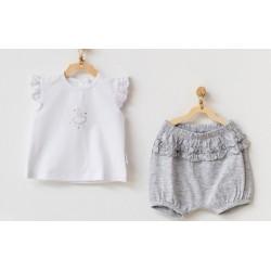 - Kız Bebek Şort Tişört Takım AC 21632 1