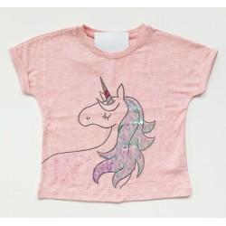 - Kız Çocuk Unicorn Pembe Tişört 2801-050 1