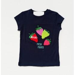 - Kız Çocuk Lacivert Tişört 3001-009 1