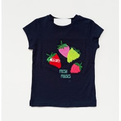 - Kız Bebek Lacivert Tişört 3001-009 1
