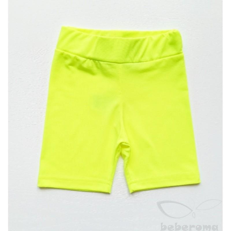 - Kız Çocuk Neon Sarı Diz Üstü Tayt 2081 1