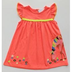 - Kız Bebek Turuncu Unicorn Elbise 3002-041 1