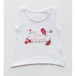 - Kız Çocuk Beyaz Askılı Tişört 816-1302 1