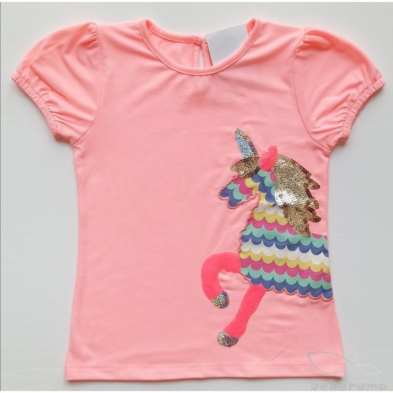 - Kız Bebek Pembe Unicorn Tişört 3001-013 1