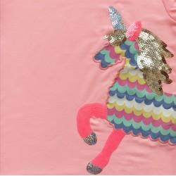 - Kız Bebek Pembe Unicorn Tişört 3001-013 2