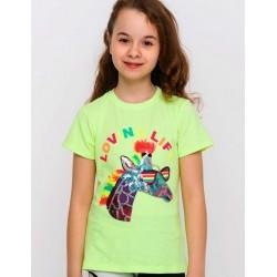 - Kız Çocuk Yeşil Unicorn Tişört 3001-007 1