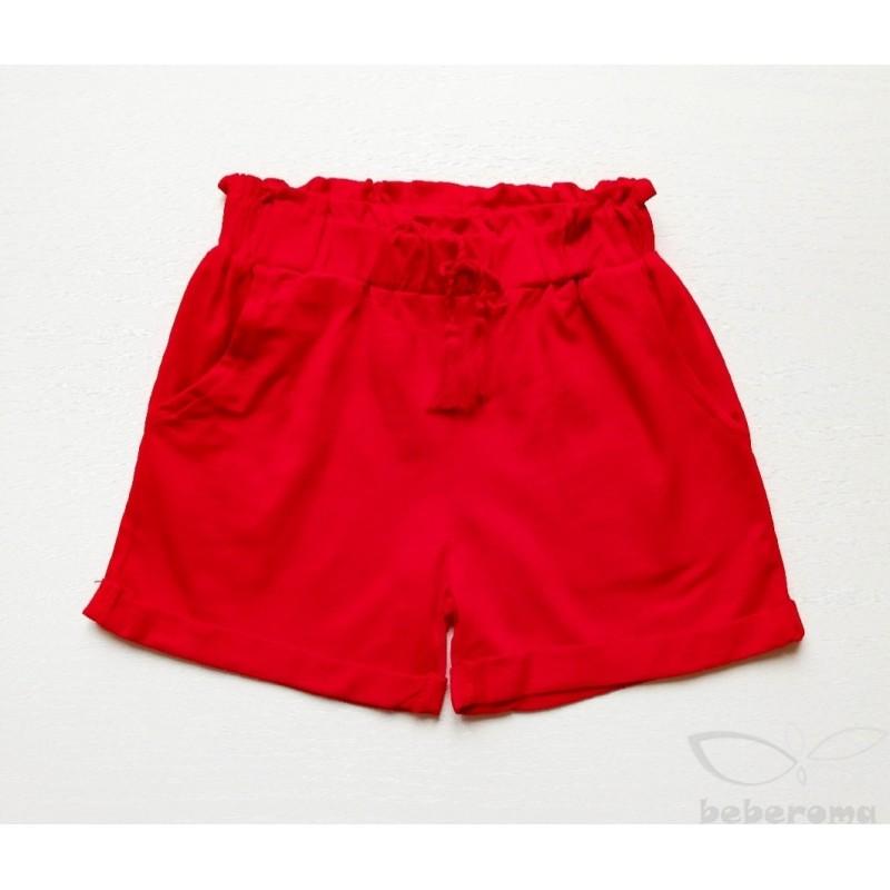 - Kız Çocuk Penye Kırmızı Şort 0957 1