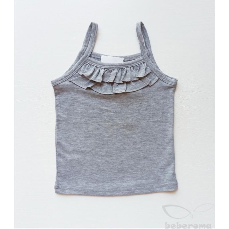 - Kız Çocuk Askılı Tişört Gri -0114 1