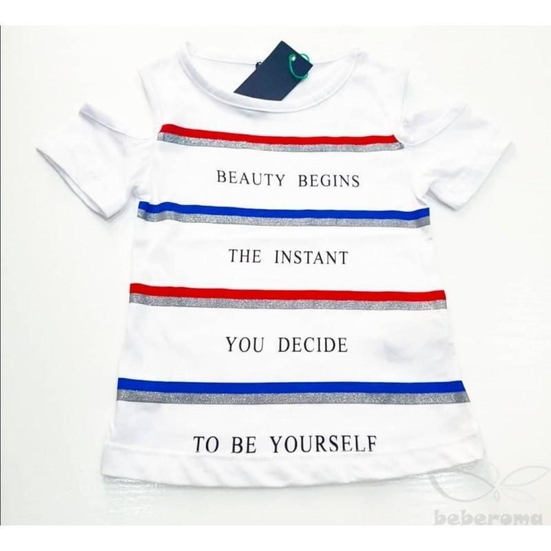 - Kız Çocuk Tişört Kırmızı Mavi 0526 1