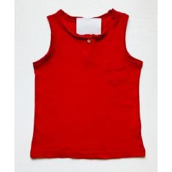 - Erkek Çocuk Kolsuz Tişört Kırmızı 4116 1