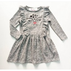 Kız Çocuk Elbise 13968 ~ Gri