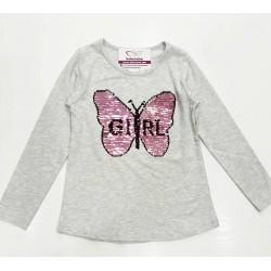 Kız Çocuk Uzun Kol Tişört -...