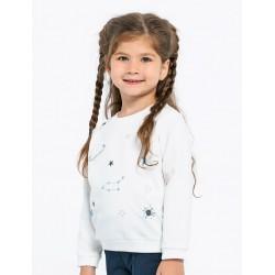 Kız Çocuk Sweatshirt -Beyaz...