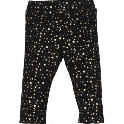 - Mamino Gold Yıldız Baskılı Siyah Tayt-12351 1