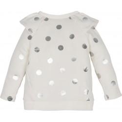 - Mamino Gümüş Puantiyeli Sweatshirt-12446 2