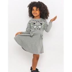 Kız Çocuk Elbise-Gri...