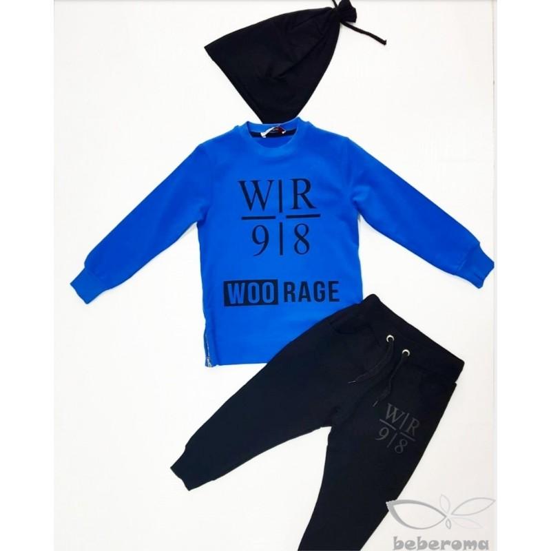 - Woorage Mavi Eşofman Takımı-9891 2
