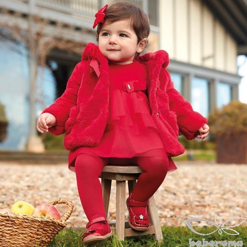 - Mayoral Kırmızı Kadife Elbise-2916 1
