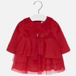 - Mayoral Kırmızı Kadife Elbise-2916 2