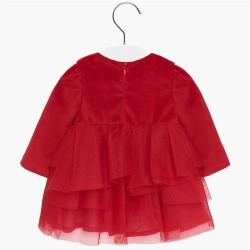 - Mayoral Kırmızı Kadife Elbise-2916 3